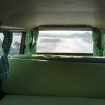 Die Sitzbank im grünen Bus