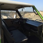 Grüner Bus Cockpit